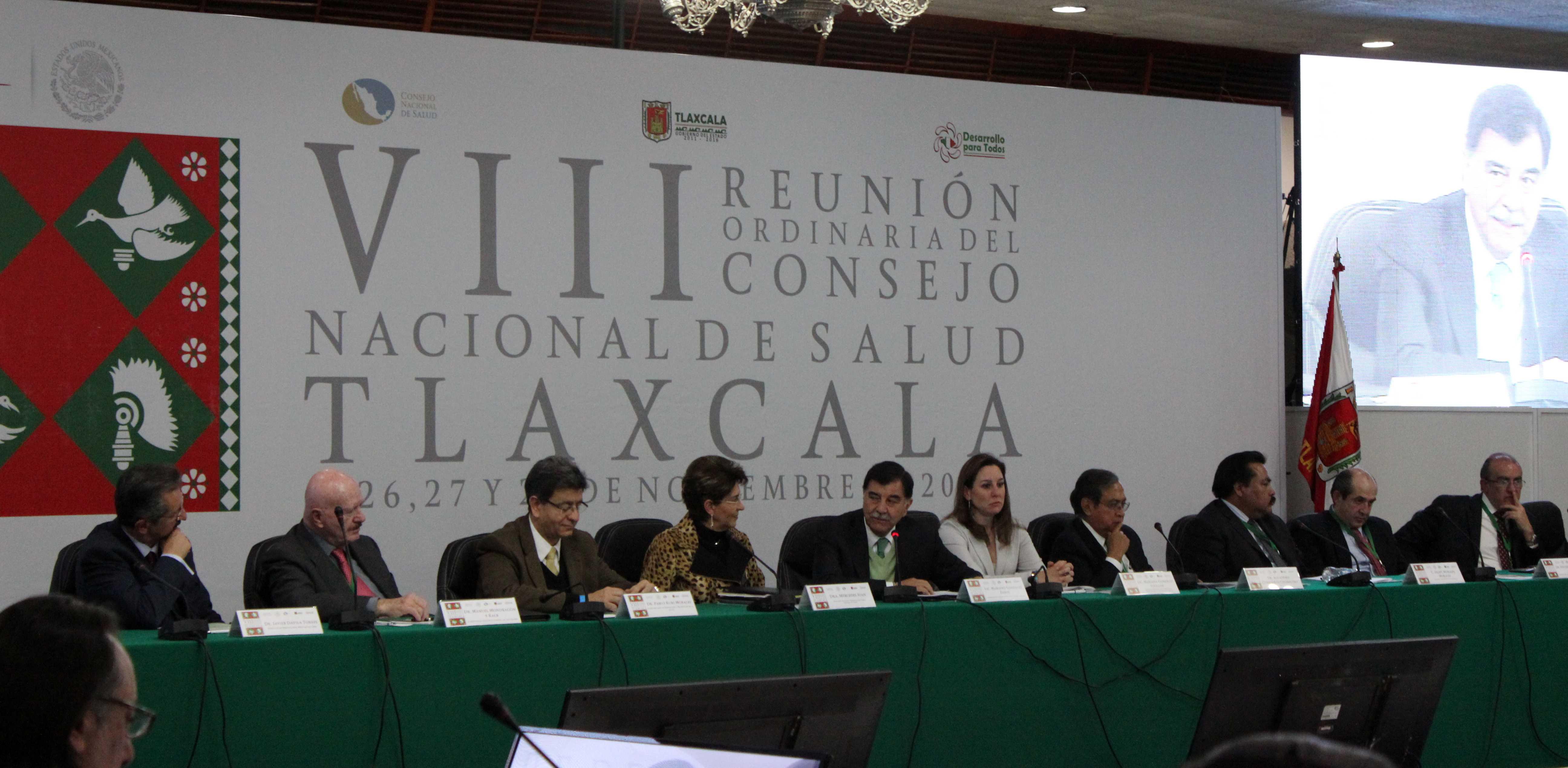 VIII Reunión Ordinaria del Consejo Nacional de Salud, en Tlaxcala