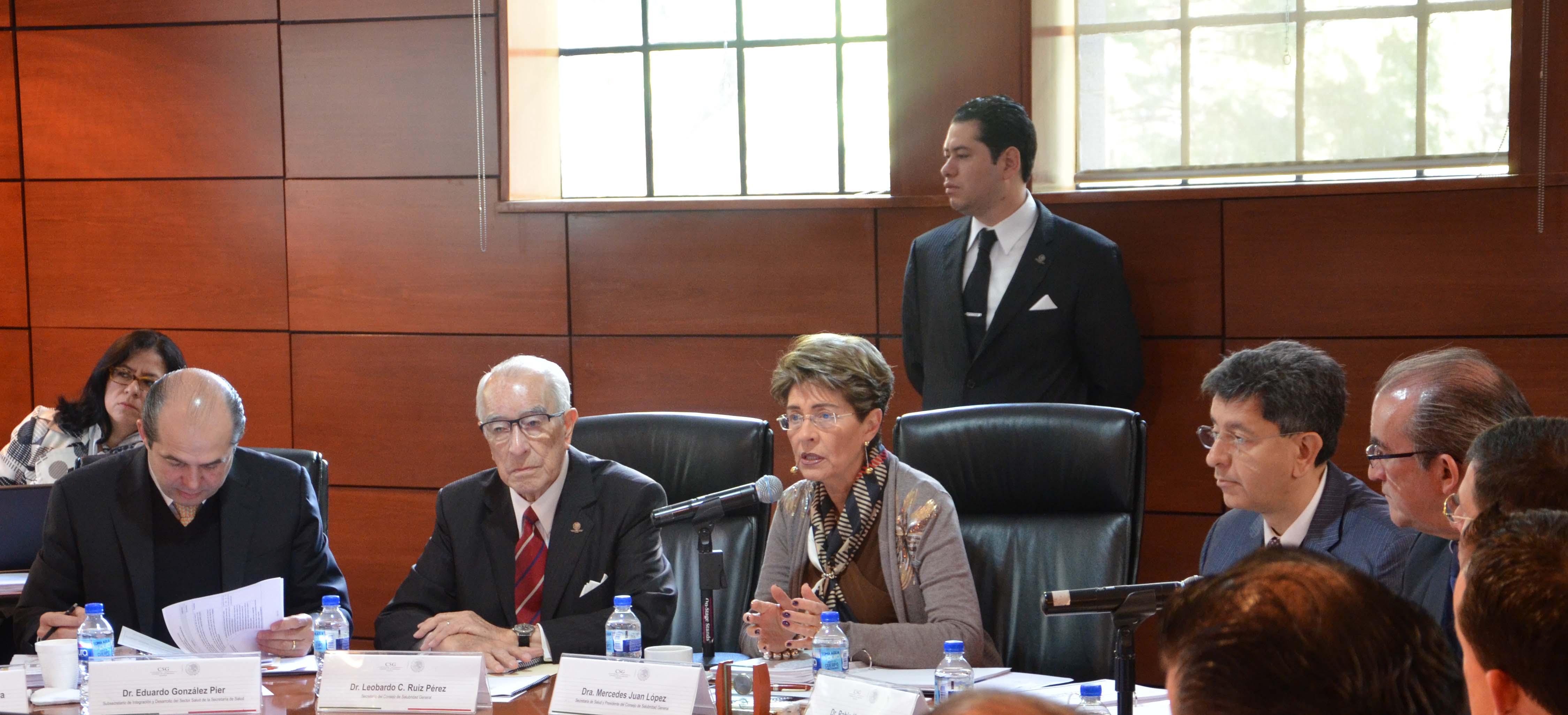 Sesión ordinaria de Consejo de Salubridad General