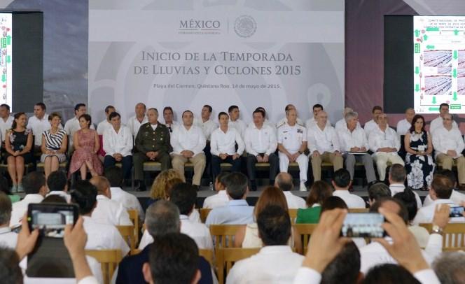 El compromiso del Gobierno de la República de sumar esfuerzos con todas las autoridades y sectores de la sociedad para salvaguardar la vida y el patrimonio de los mexicanos.